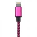 Nylon Lightning kabel 1 meter
