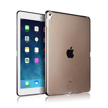 iPad Air 2 siliconen backcover zwart transparant
