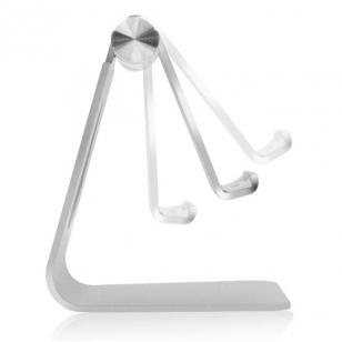 Verstelbare aluminium tablet standaard zilverkleurig