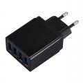 USB adapter met 4 poorten zwart